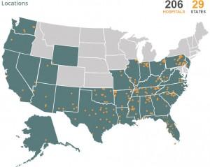 CHS location map