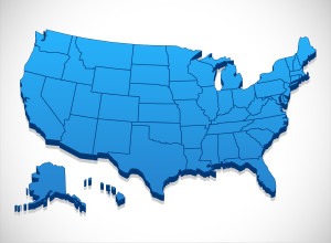50145367 - united states of america map - 3d illustration of united states map.