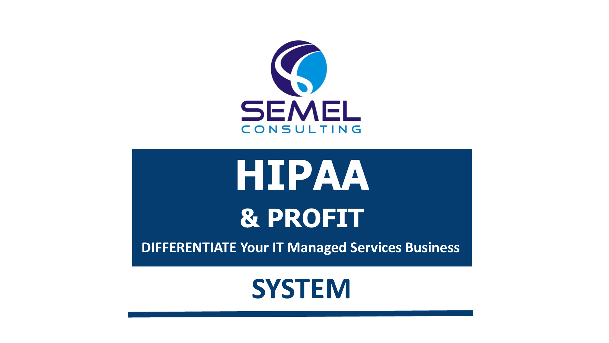 HIPAA & Profit System for MSPs | Semel Consulting